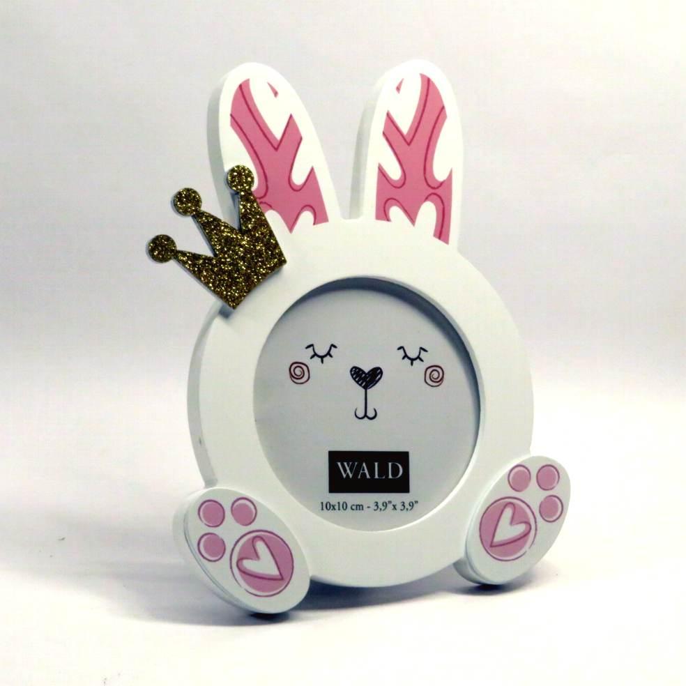 Cornice portafoto coniglietto rosa di Wald