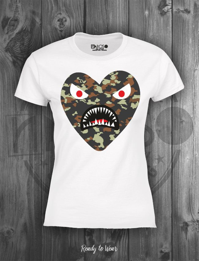 T-shirt manica corta Monster Narciso.