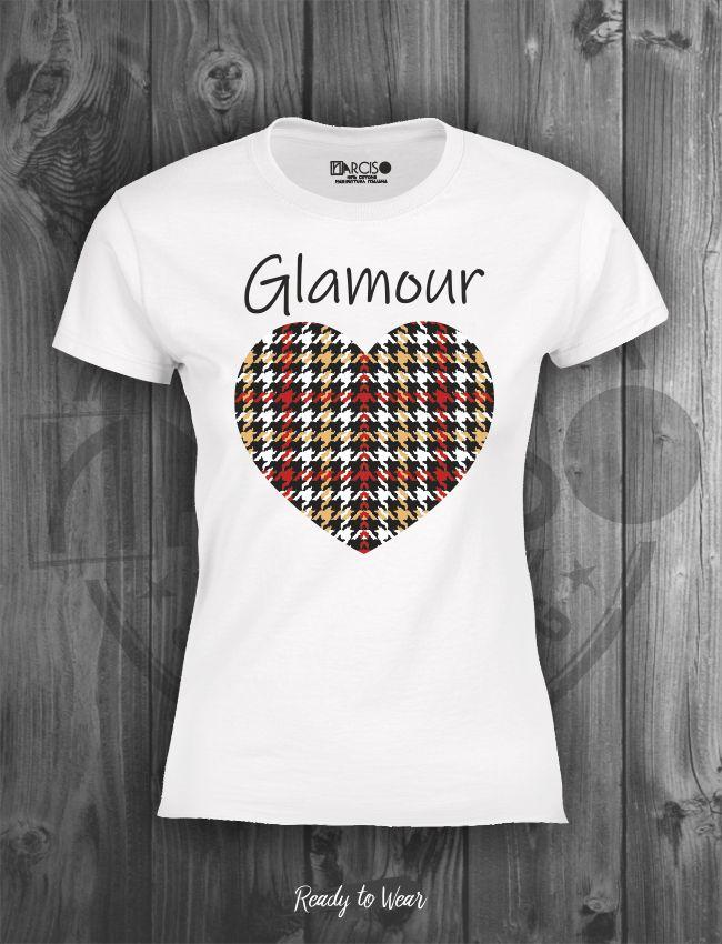 T-shirt manica corta Glamour Narciso.