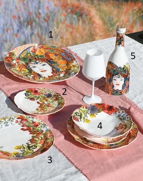Baci Milano Bottiglia porcellana Bot.Mil01 foto n.5