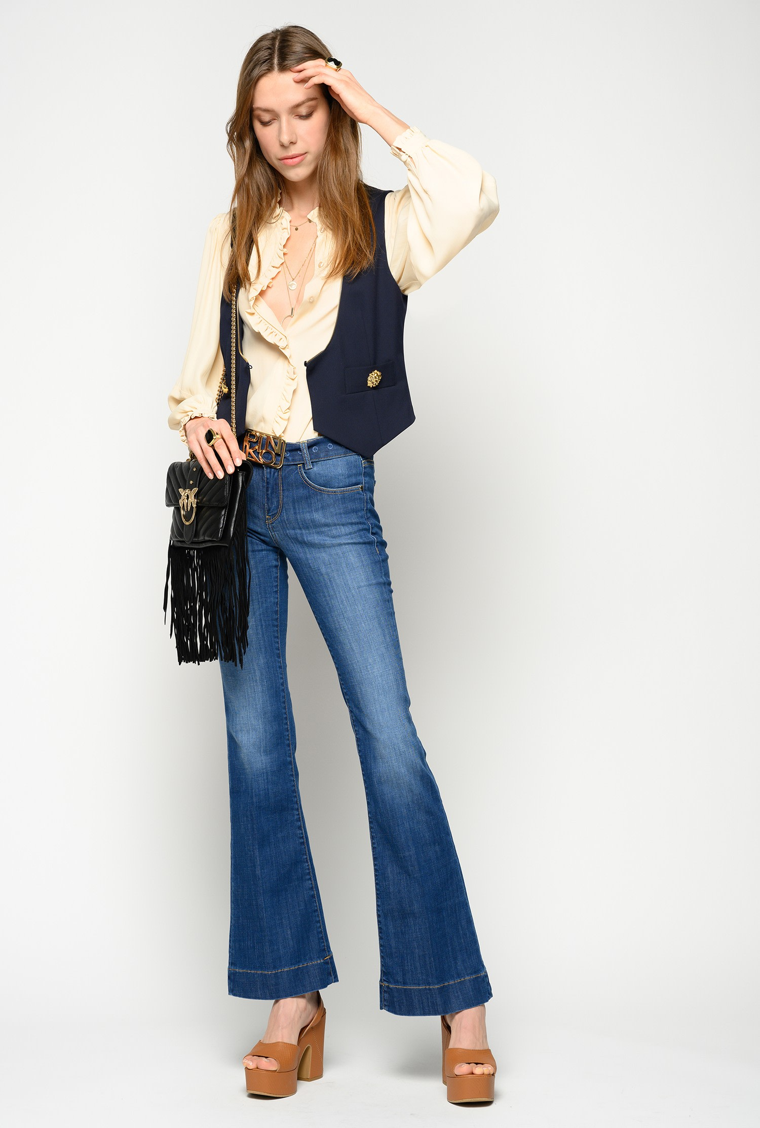 Jeans cinque tasche flare-fit Pinko.