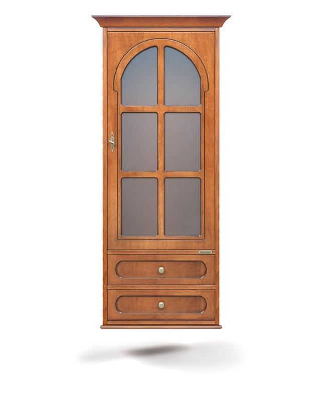 Vitrina de pared 1 puerta 2 cajones