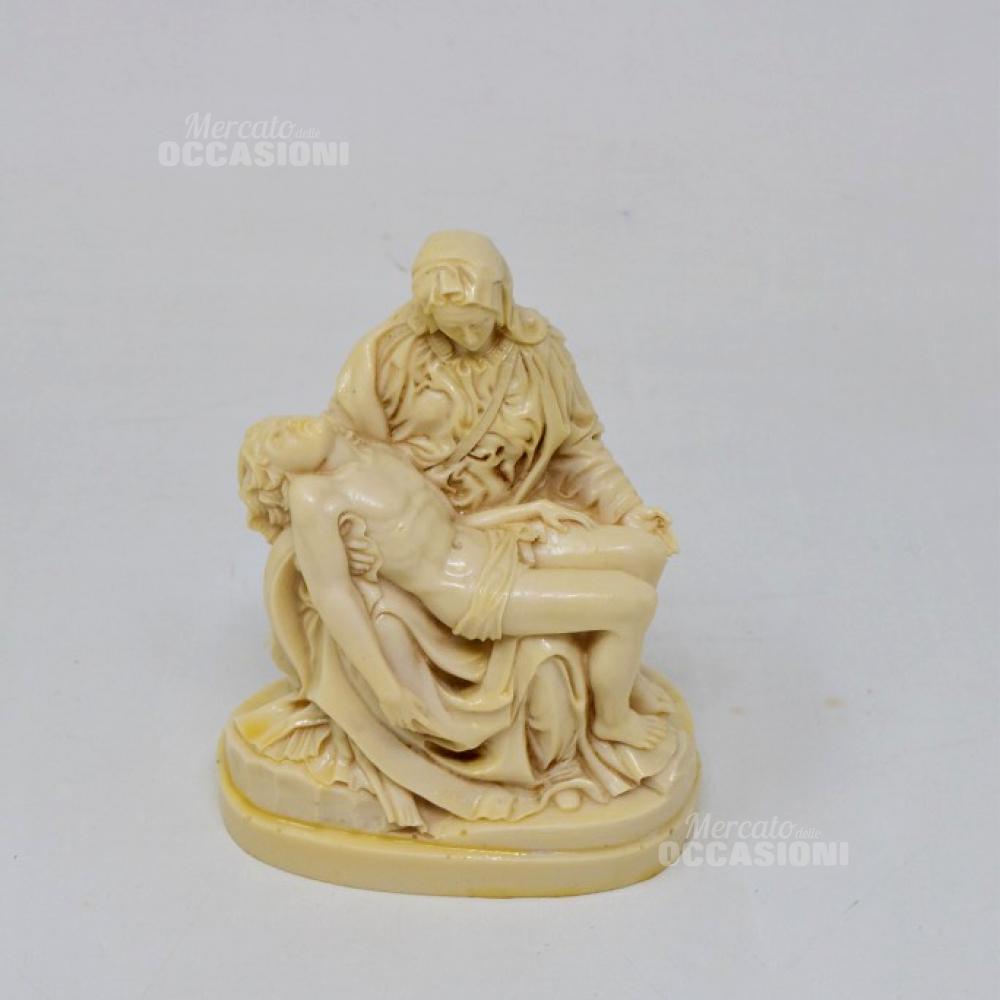 Statuetta In Pasta 'la Pietà' Di Michelangelo 14cm