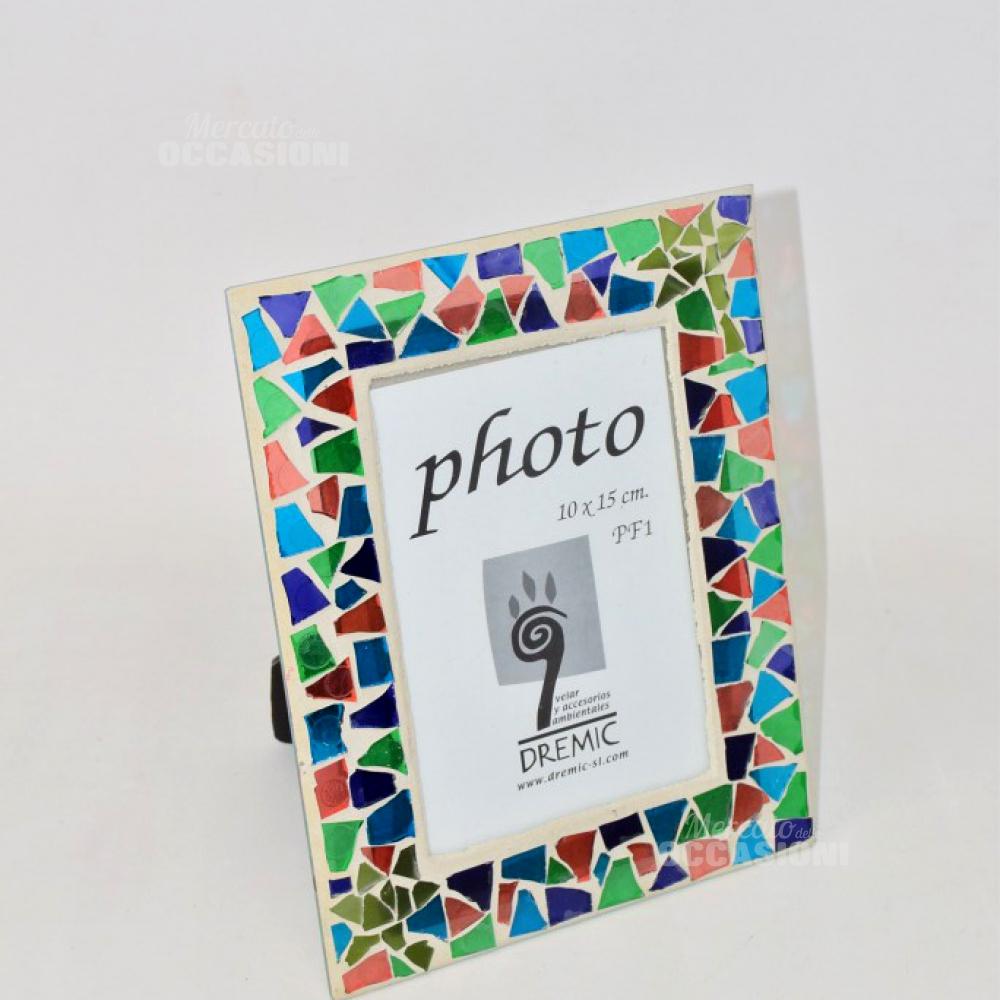 Cornice Porta Foto 10*15 Vetri Colorati