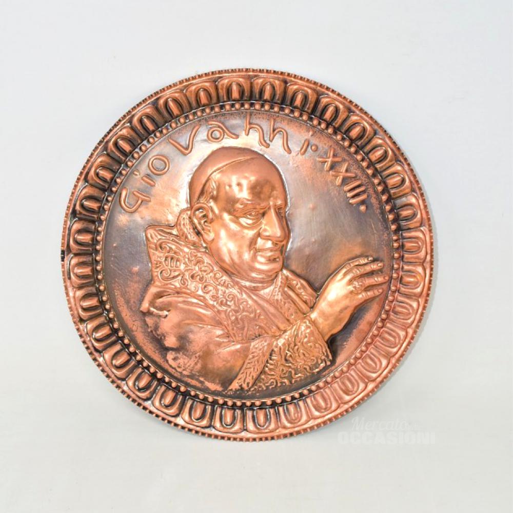 Piatto Papa Giovanni XXIII In Rame