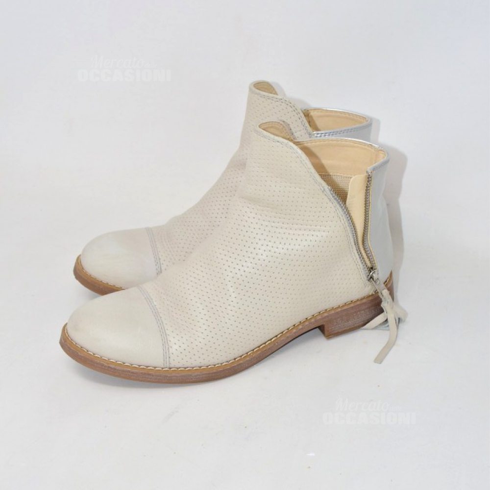 Stivaletto Geox Made In Italy Beige Grigio N 36