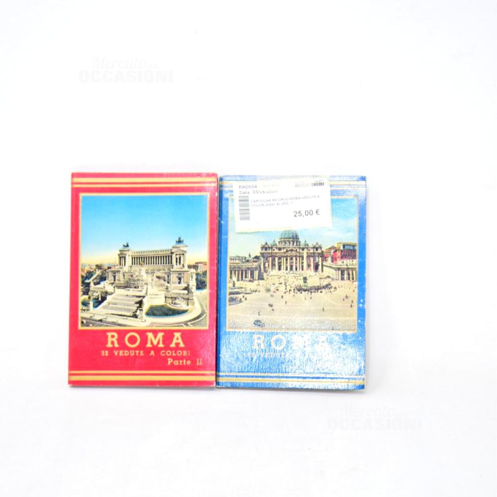 Cartoline Ricordo Roma Vedute A Colori Anni '50 2pz
