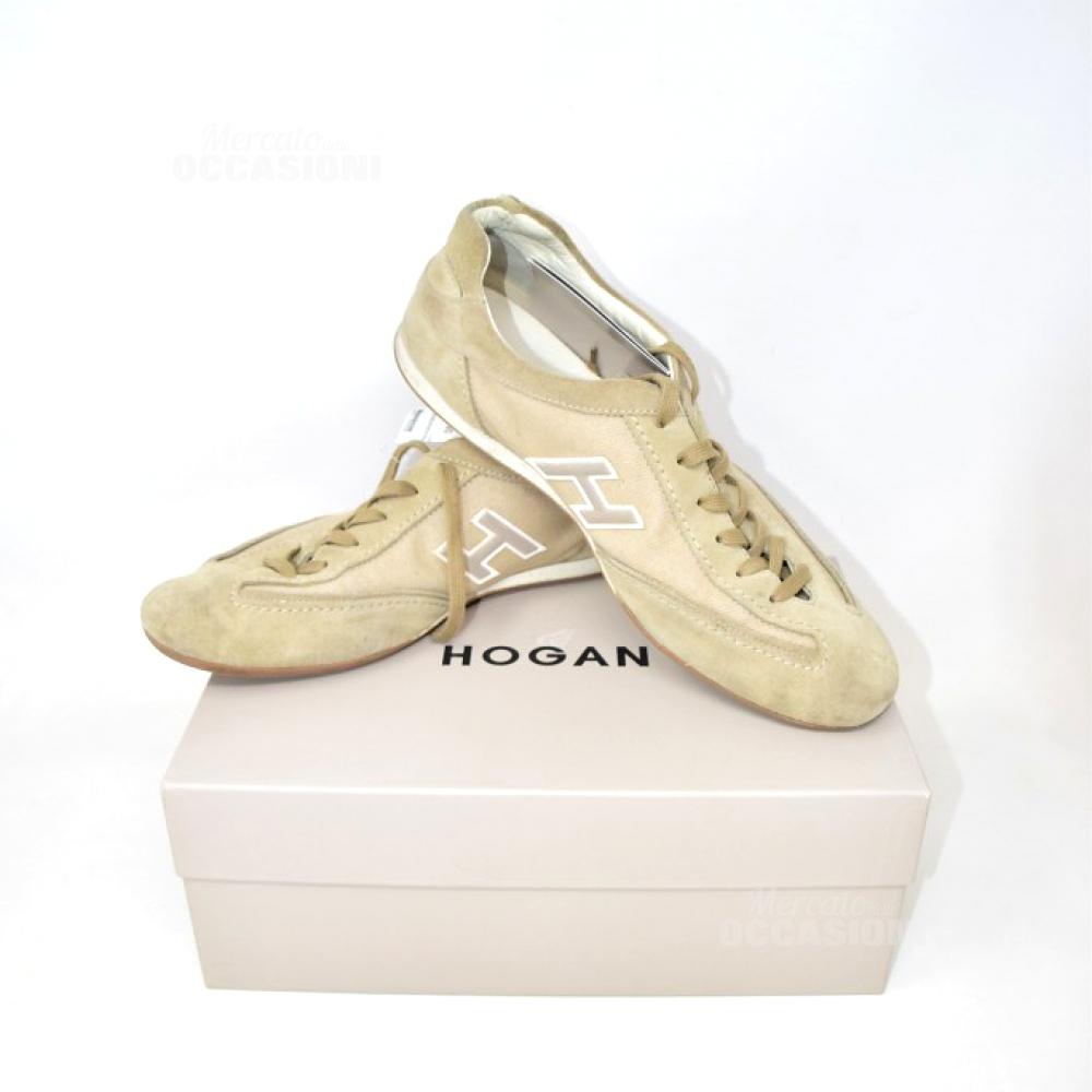 Scarpe Uomo Hogan Num.44 Beige Scamosciato/tela