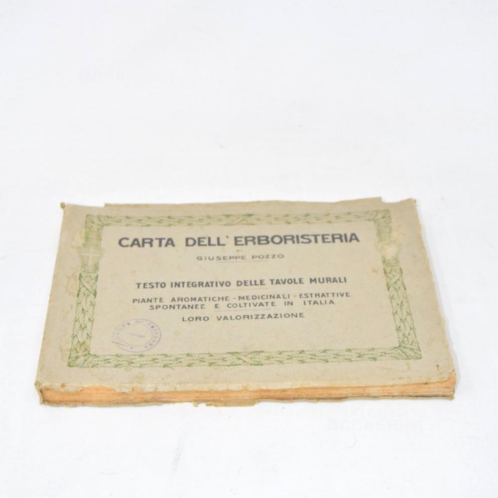 Libro Carta Dell'erboristeria Di Giuseppe Pozzo
