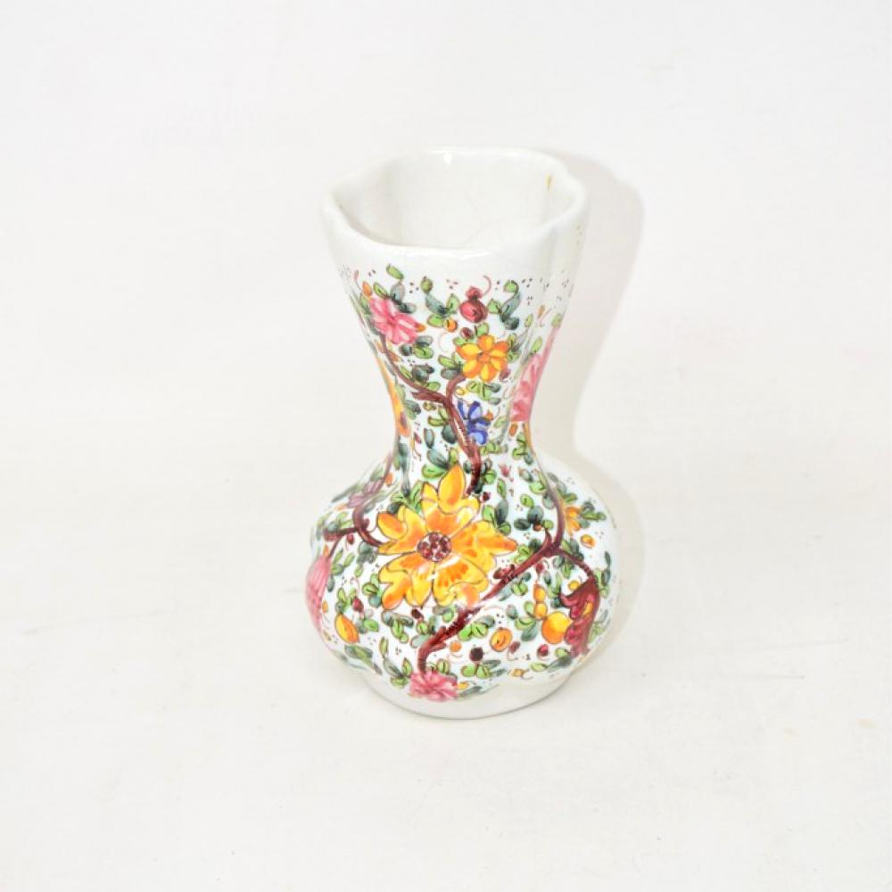 Vaso Per Fiori Gubbio Alto15cm Dipinto A Mano
