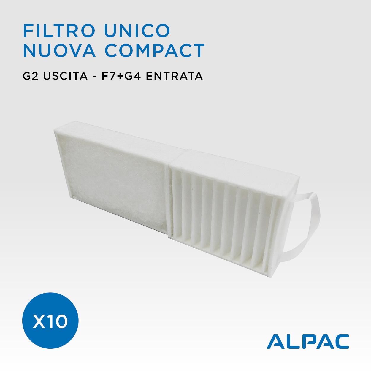 PROMO x10 Filtro unico Alpac Nuova Compact / Climapac Aliante, Arias / Helty Flow Easy, Plus, Elite, Flow40