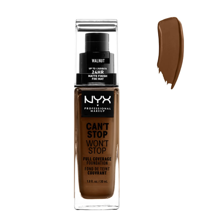 Nyx Can´t Stop Won´t Stop Full Coverage Foundation Walnut 30ml