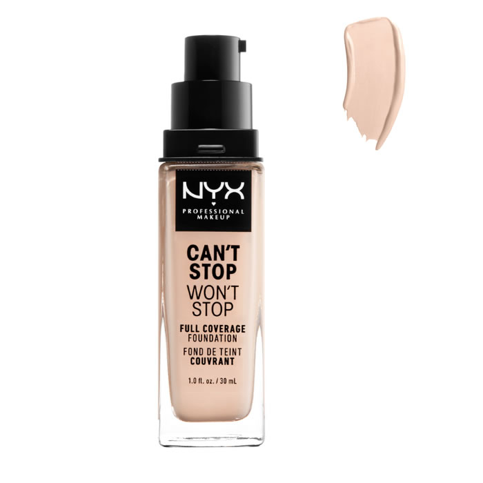 Nyx Can´t Stop Won´t Stop Full Coverage Foundation Light Porcel 30ml