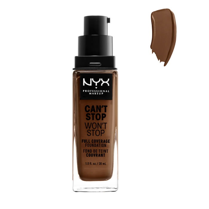 Nyx Can´t Stop Won´t Stop Full Coverage Foundation Cocoa 30ml