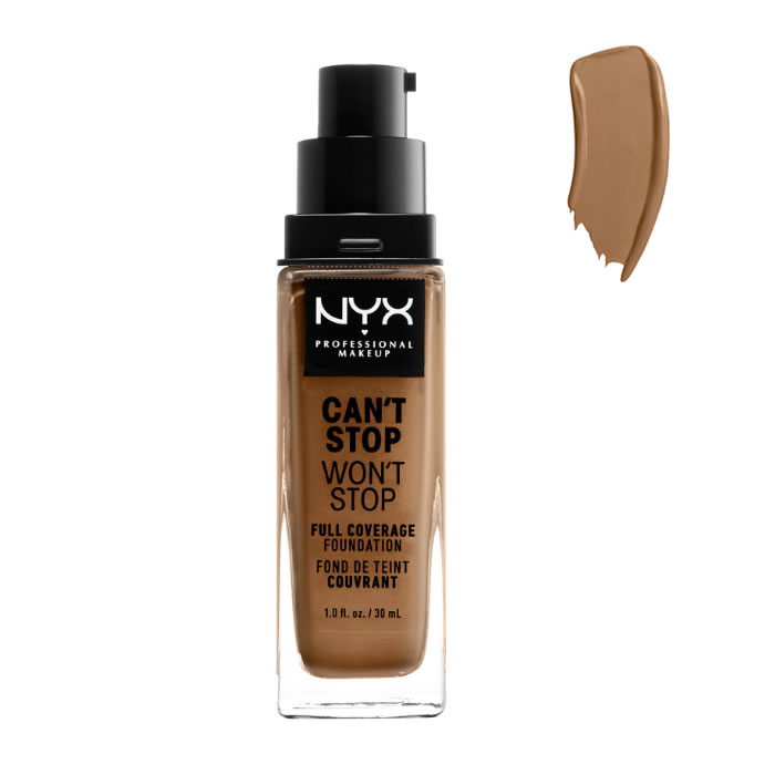 Nyx Can´t Stop Won´t Stop Full Coverage Foundation Nutmeg 30ml