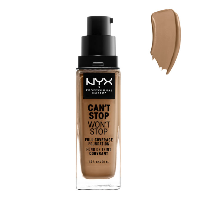 Nyx Can´t Stop Won´t Stop Full Coverage Foundation Caramel 30ml