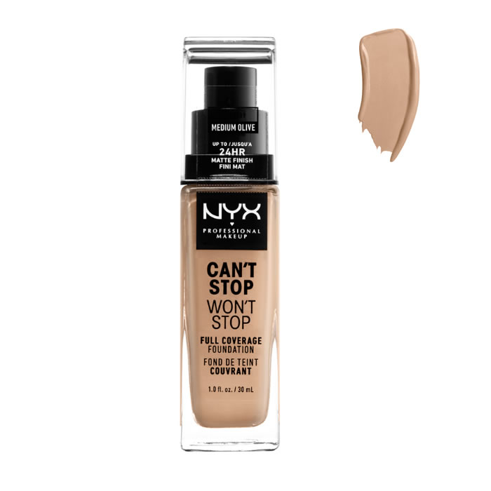 Nyx Can´t Stop Won´t Stop Full Coverage Foundation Medium Olive 30ml