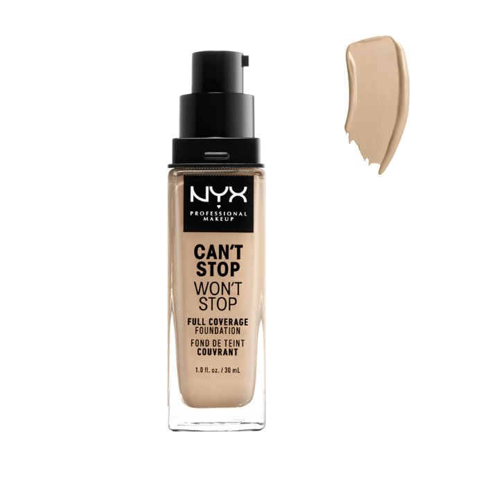 Nyx Can´t Stop Won´t Stop Full Coverage Foundation Nude 30ml