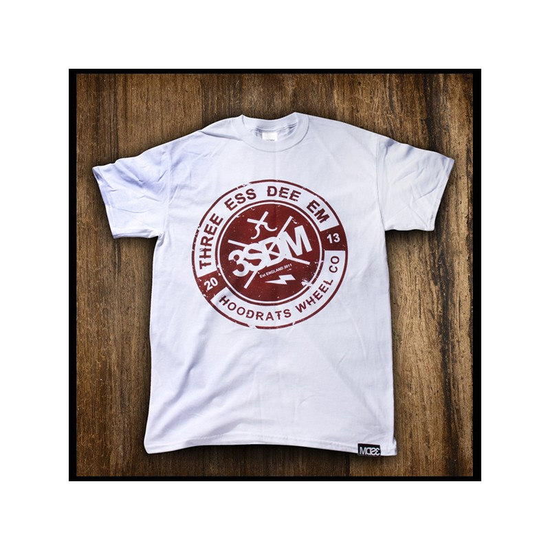 T-shirt 3SDM THREE ESS DEE EMD Bianca