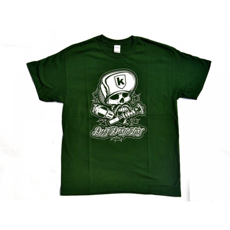 T-Shirt SKULL CAP for man - Verde e Bianca