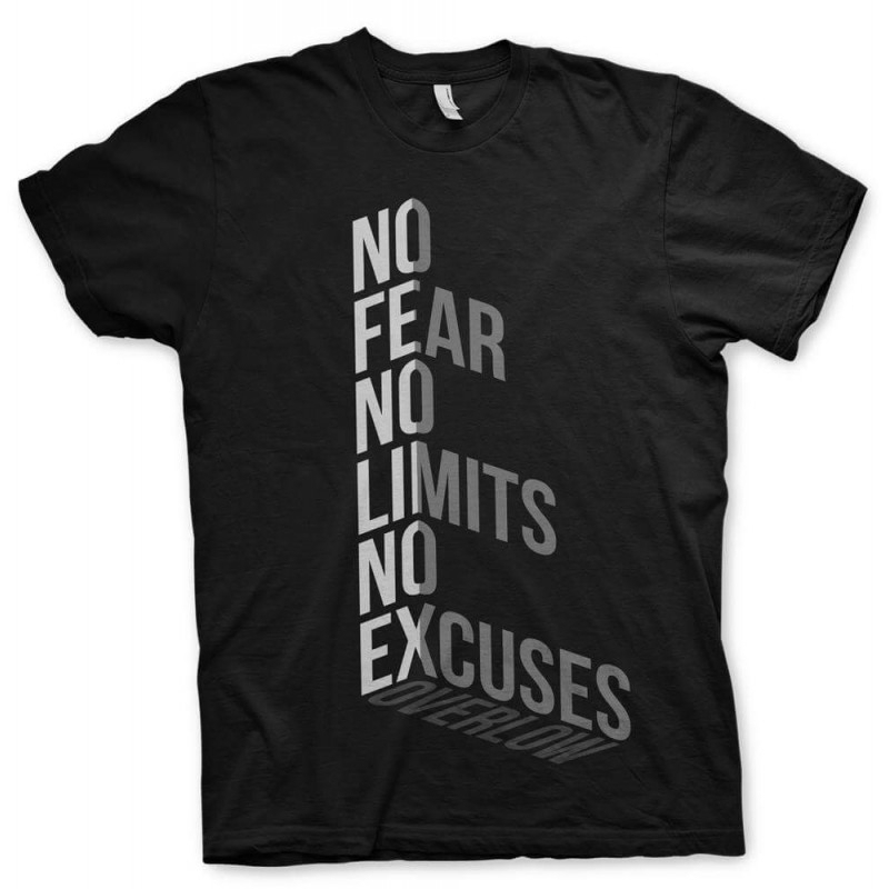 T-Shirt NO FEAR for man - Nera e Bianca
