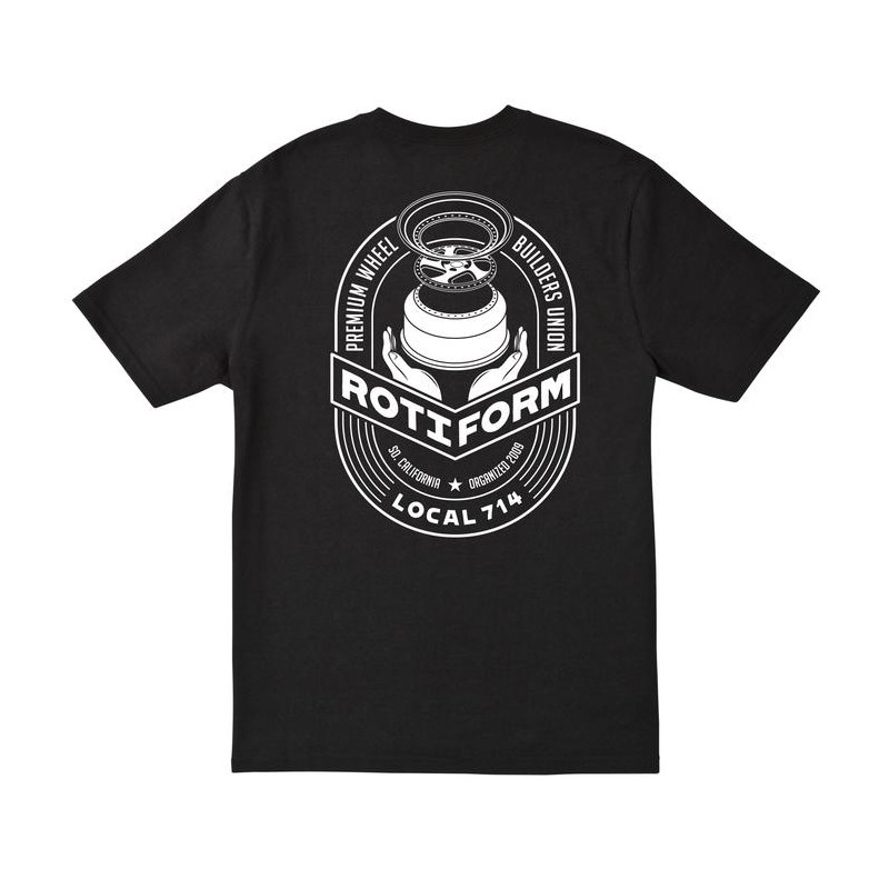 T-Shirt ROTIFORM LOCAL 714 for man - Nera e Bianca