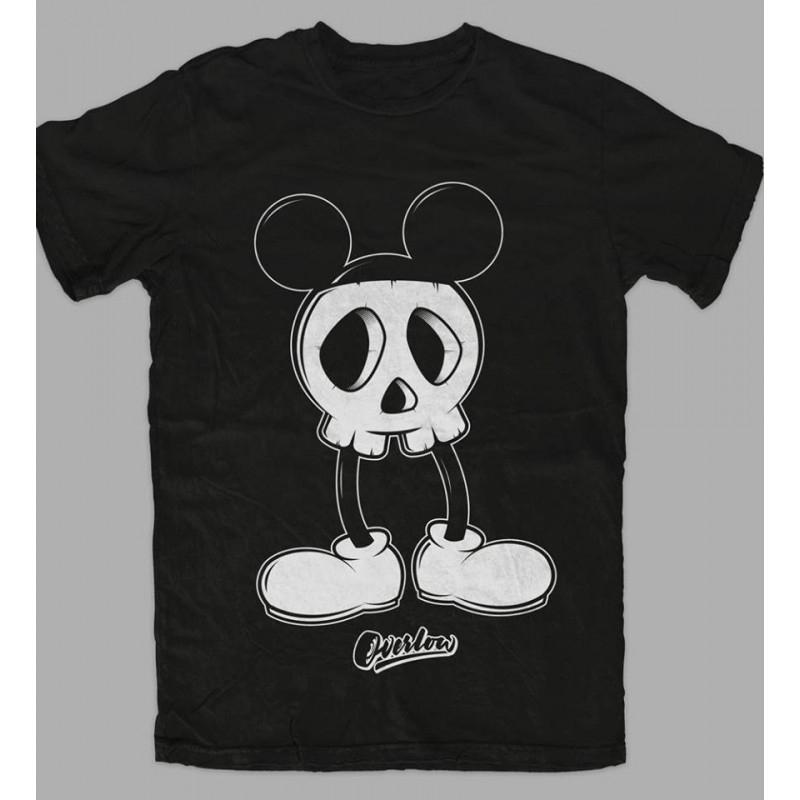T-Shirt MICKEY SKULL for man - Nera e Bianca