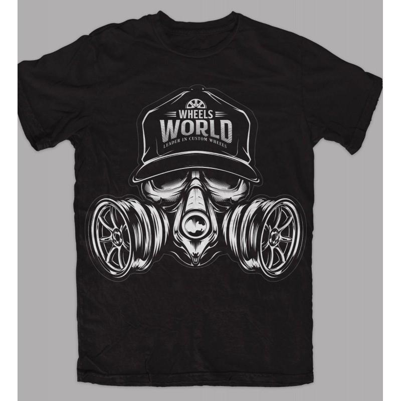 T-Shirt SKULL GAS for man - Nera e Bianca