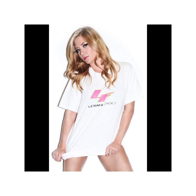 T-shirt Lexani FORGED Bianca e Rosa
