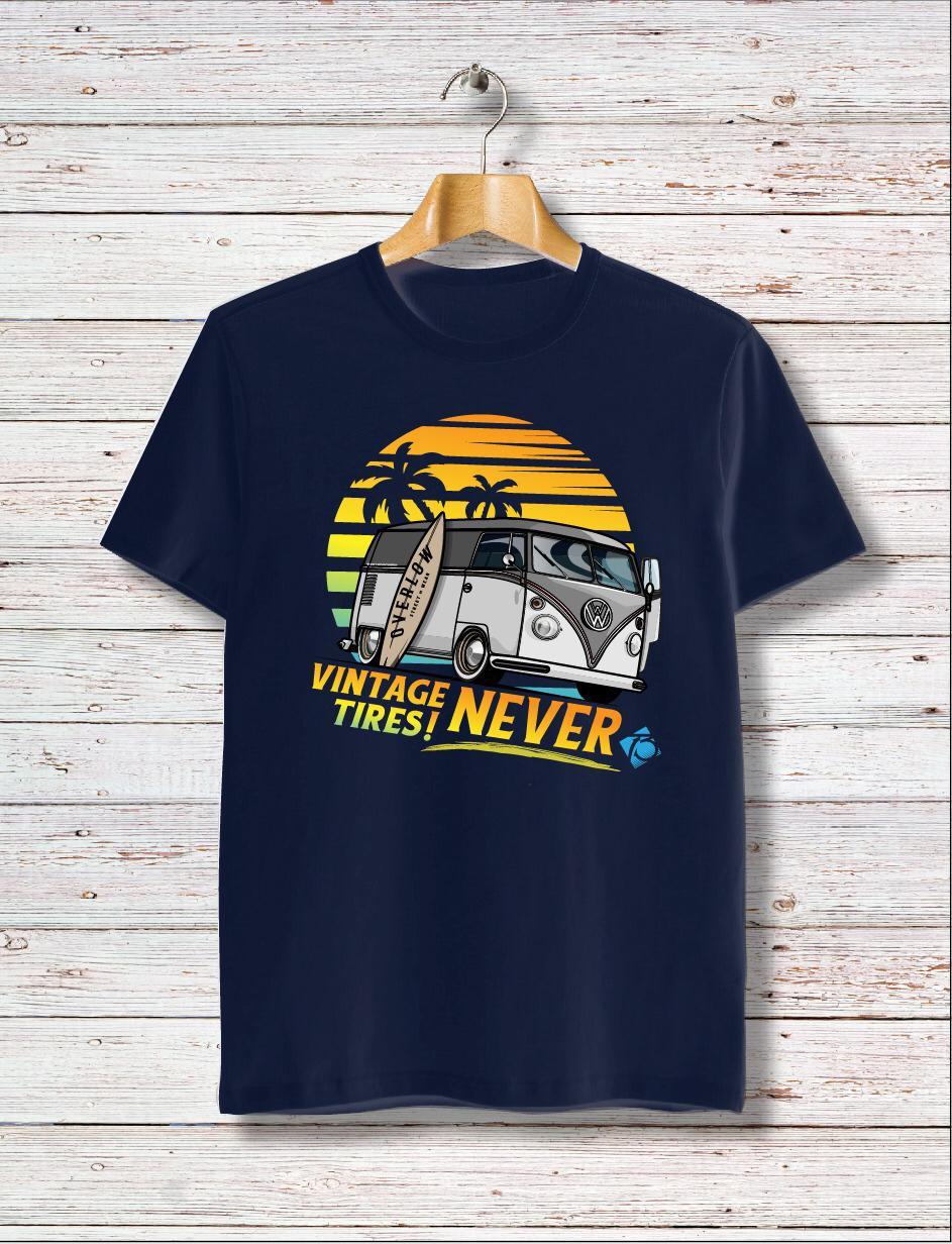 T-Shirt SURFING Overlow - Blu Navy