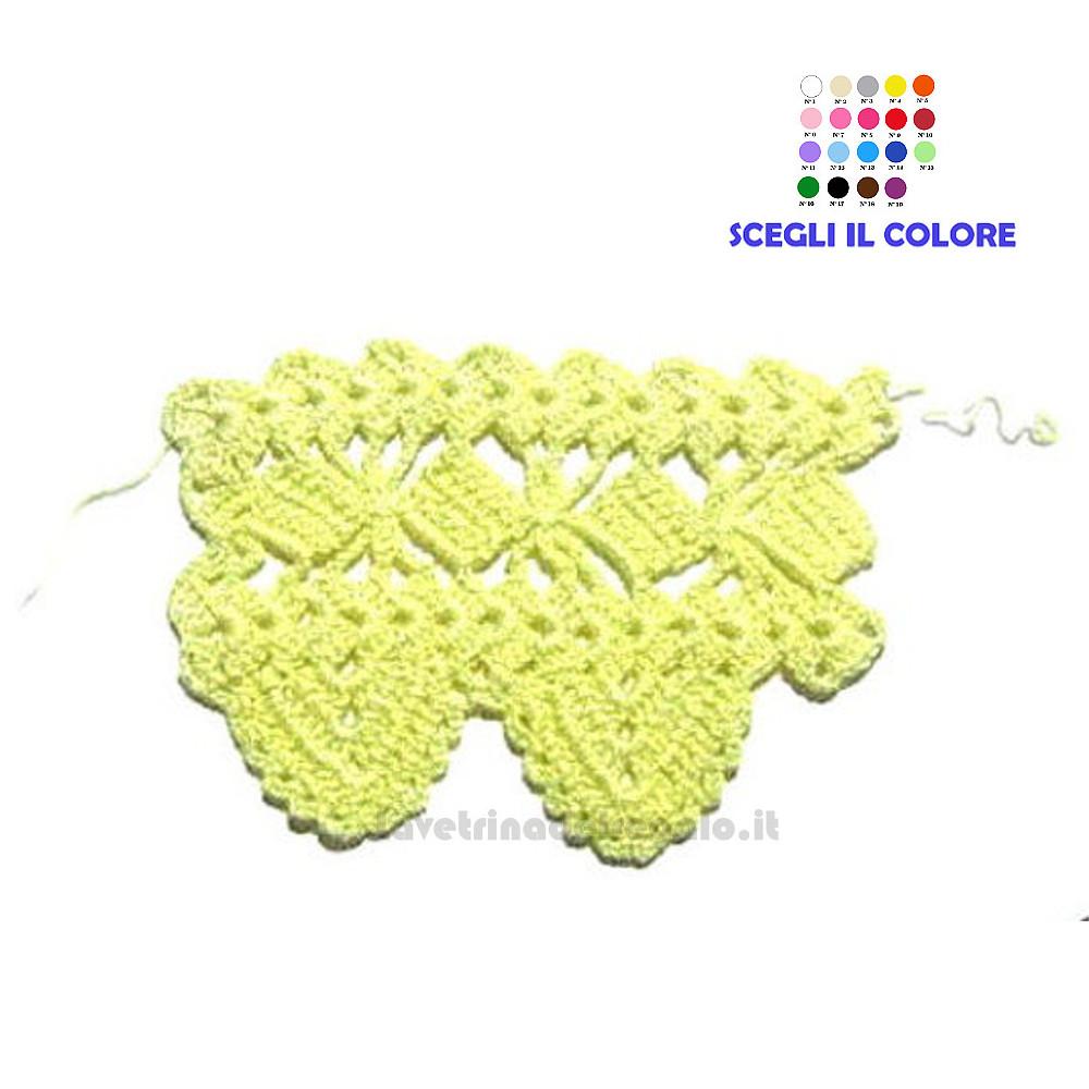 Bordo giallo ad uncinetto 7 H cm Handmade - Italy