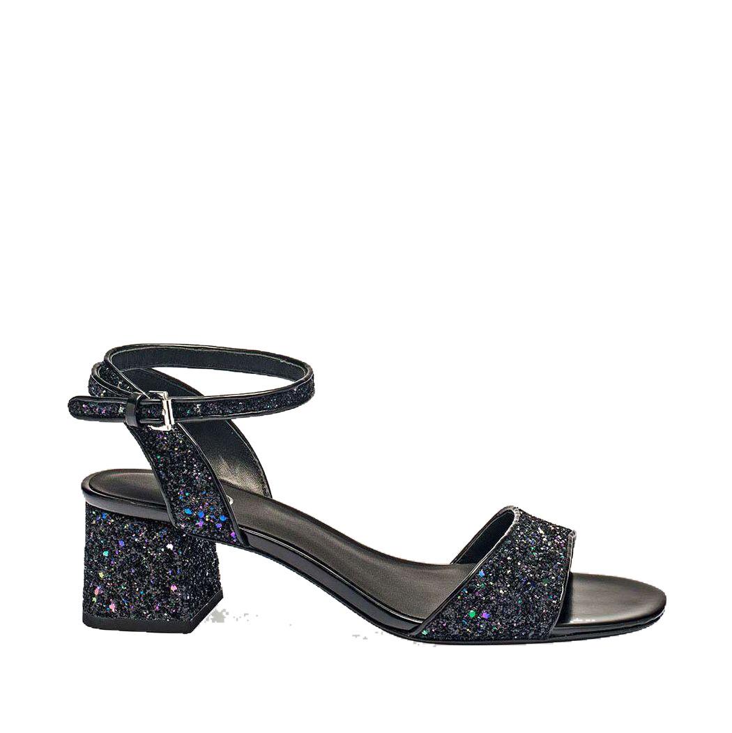 Sandali pelle glitter nero - ASH