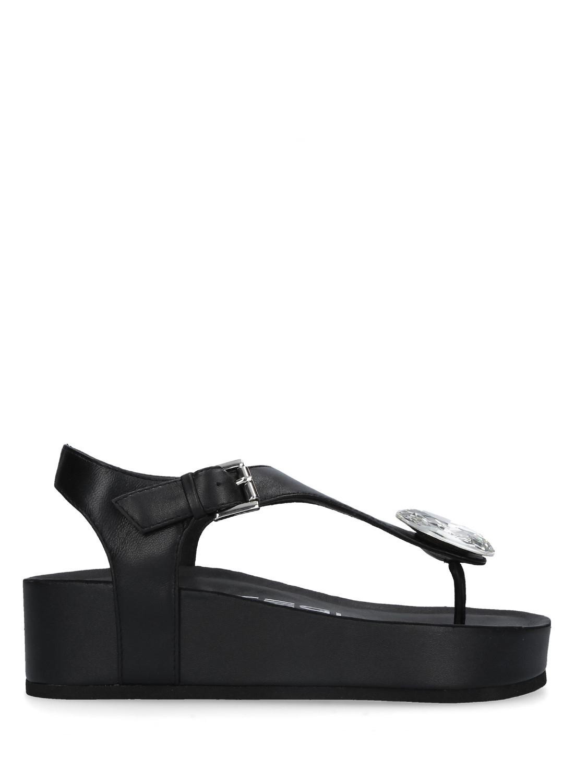 Sandali infradito pelle colore nero STRATEGIA