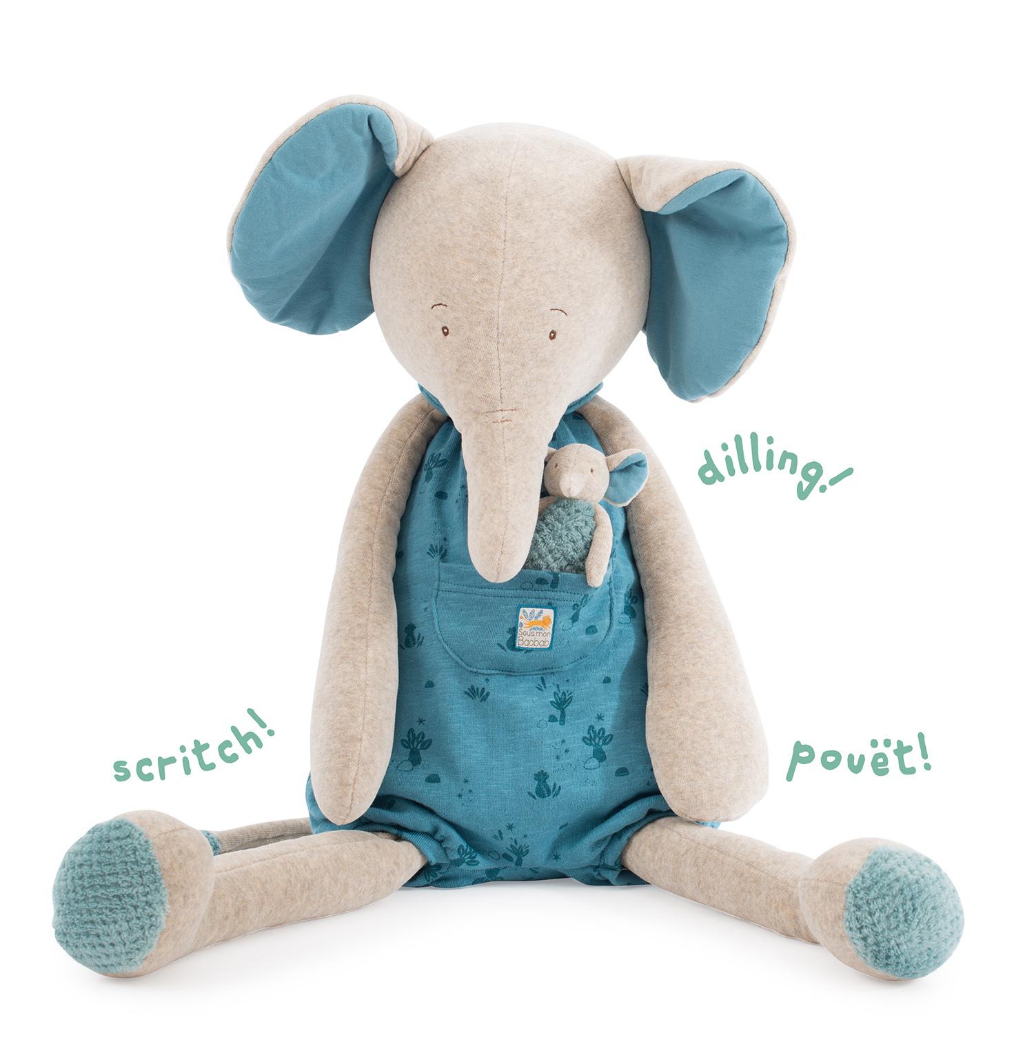 Elefante pelouche 80cm di Moulin Roty