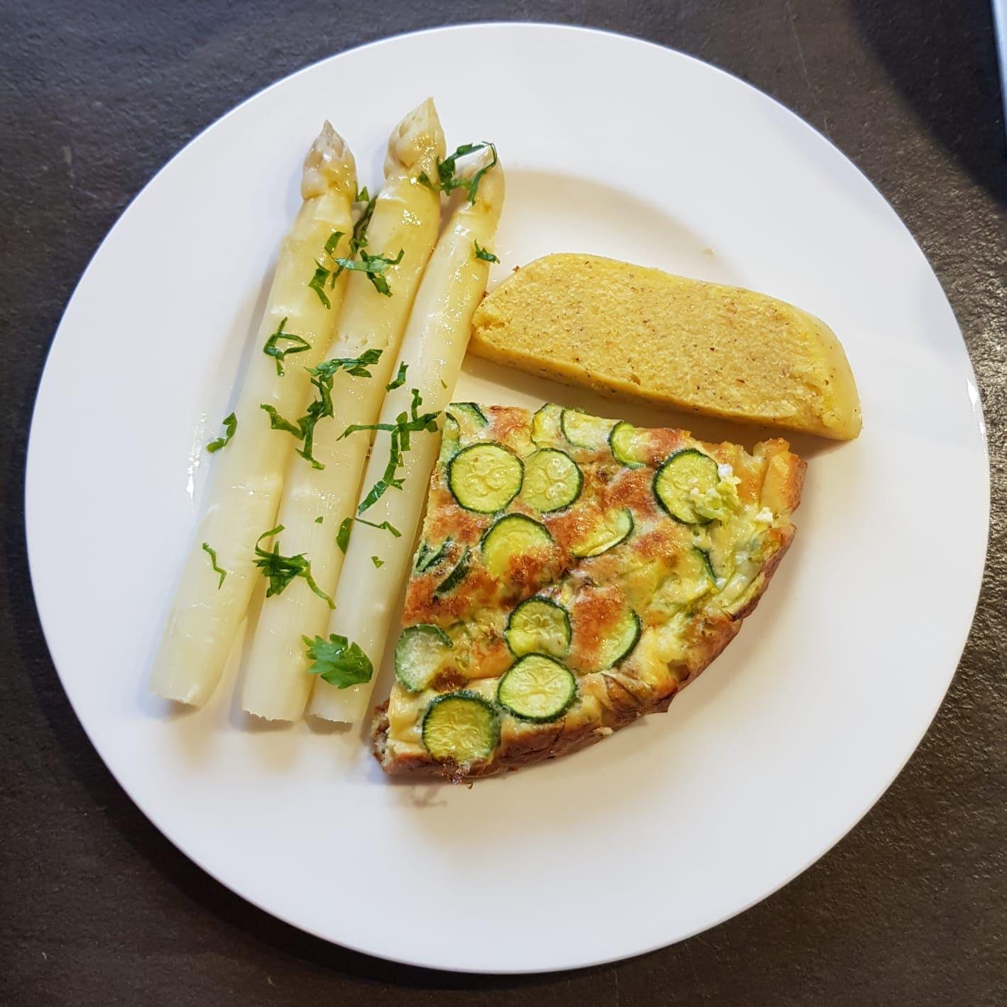 Frittata con fiori e zucchine