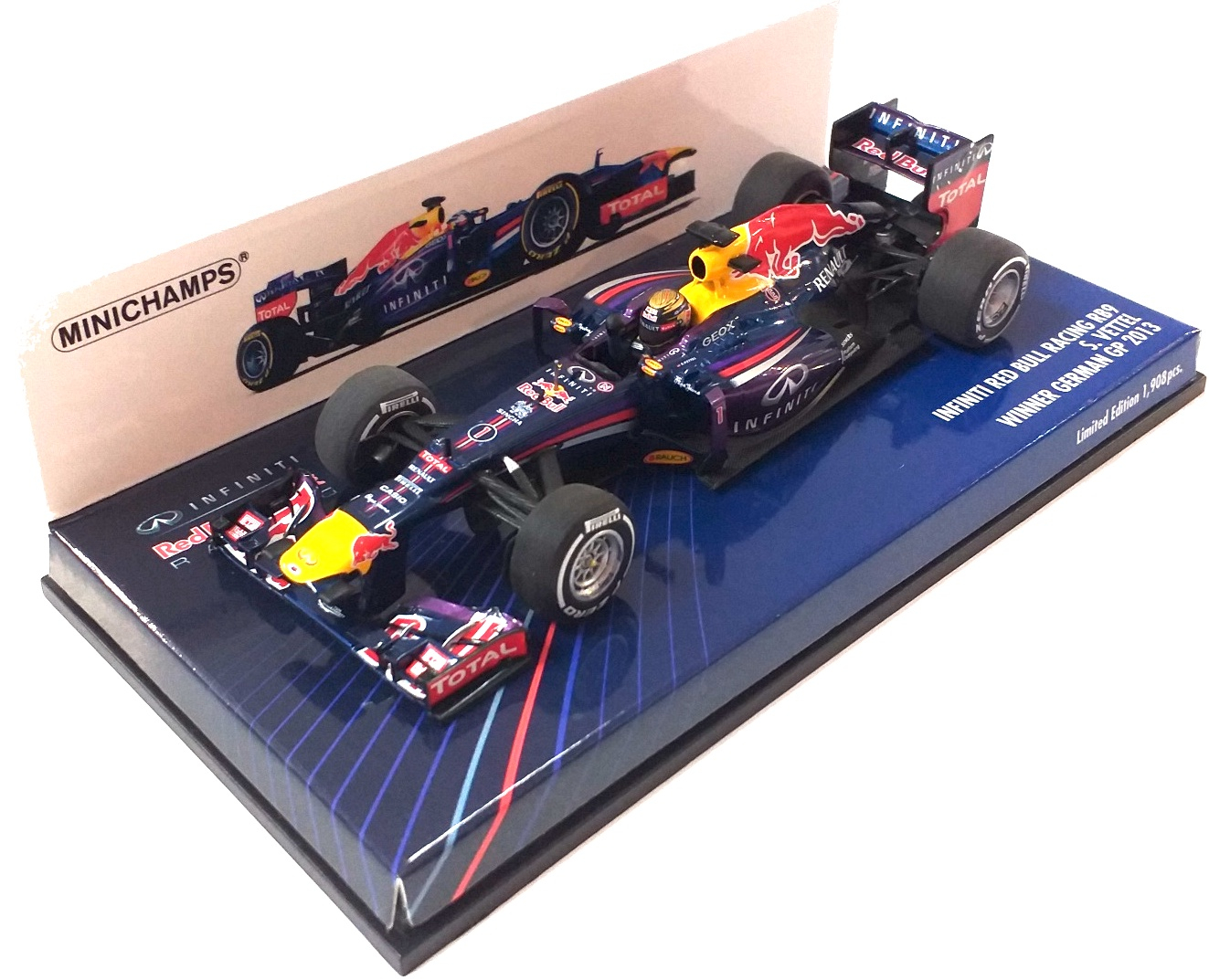 Infiniti Red Bull Racing RB9 Sebastian Vettel Winner German Gp 2013 1/43
