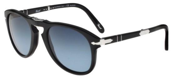 Persol - Occhiale da Sole Uomo, Steve Mcqueen Limited Edition, Black/Blue Shaded  PO0714SM   95/53  C54