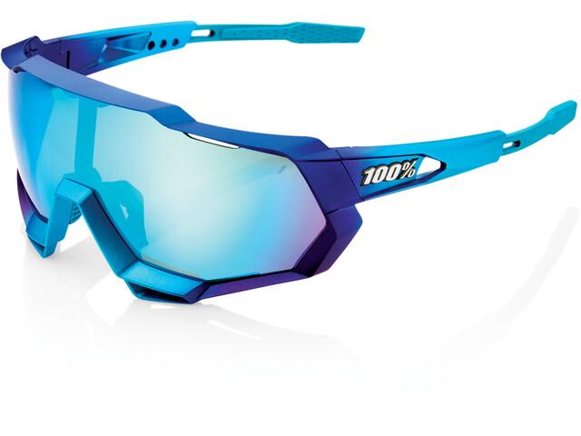 100% Speedtrap Occhiali, matte metallic into the fade/blue mirror