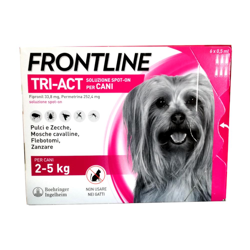 FRONTLINE TRI-ACT per cani dai 2 ai 5 kg - 6 pipette