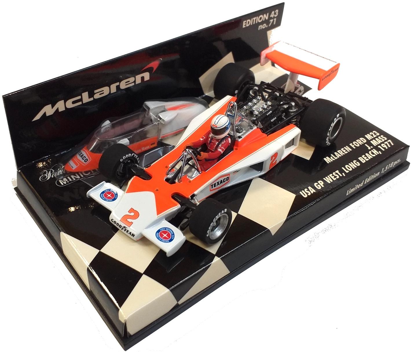 McLaren Ford M23 USA Gp West 19767 J. Mass 1/43