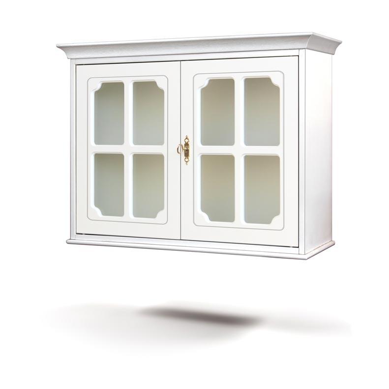 Vetrinetta pensile 2 ante con vetro e griglia