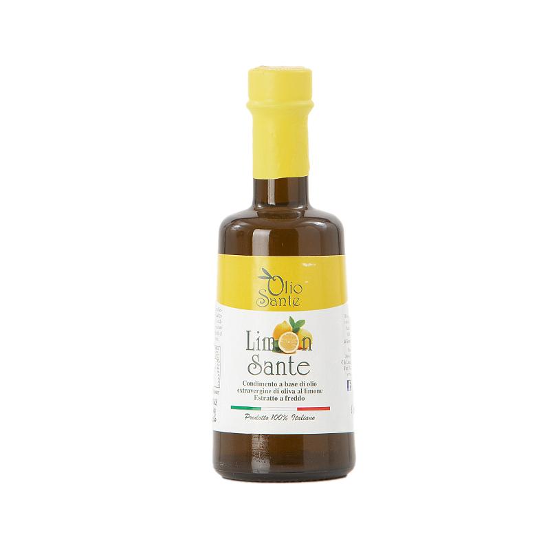 Condimento a base di olio extravergine Ogliarola e limone 250ml 2019/20- Olio extravergine di oliva Pugliese cultivar Ogliarola aromatizzato al limone in Bottiglia da 250 ml  Terre di Ostuni