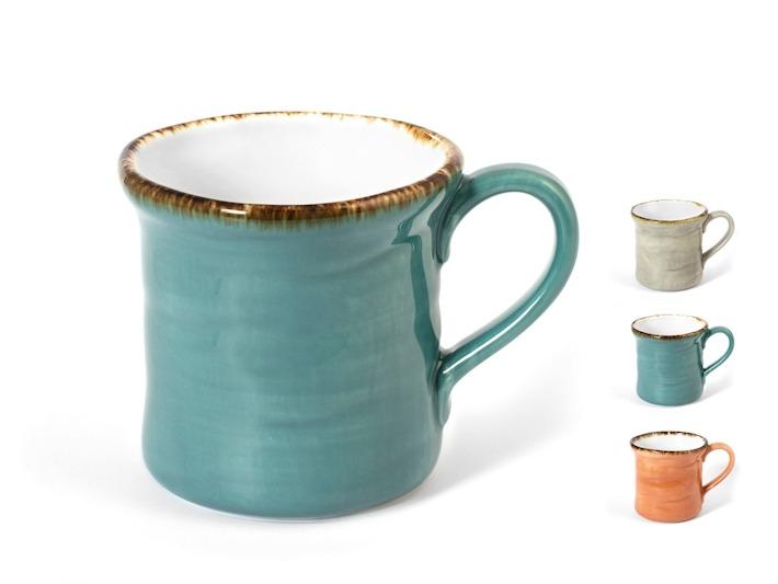 Tazza mug in porcellana mediterranea 350cc