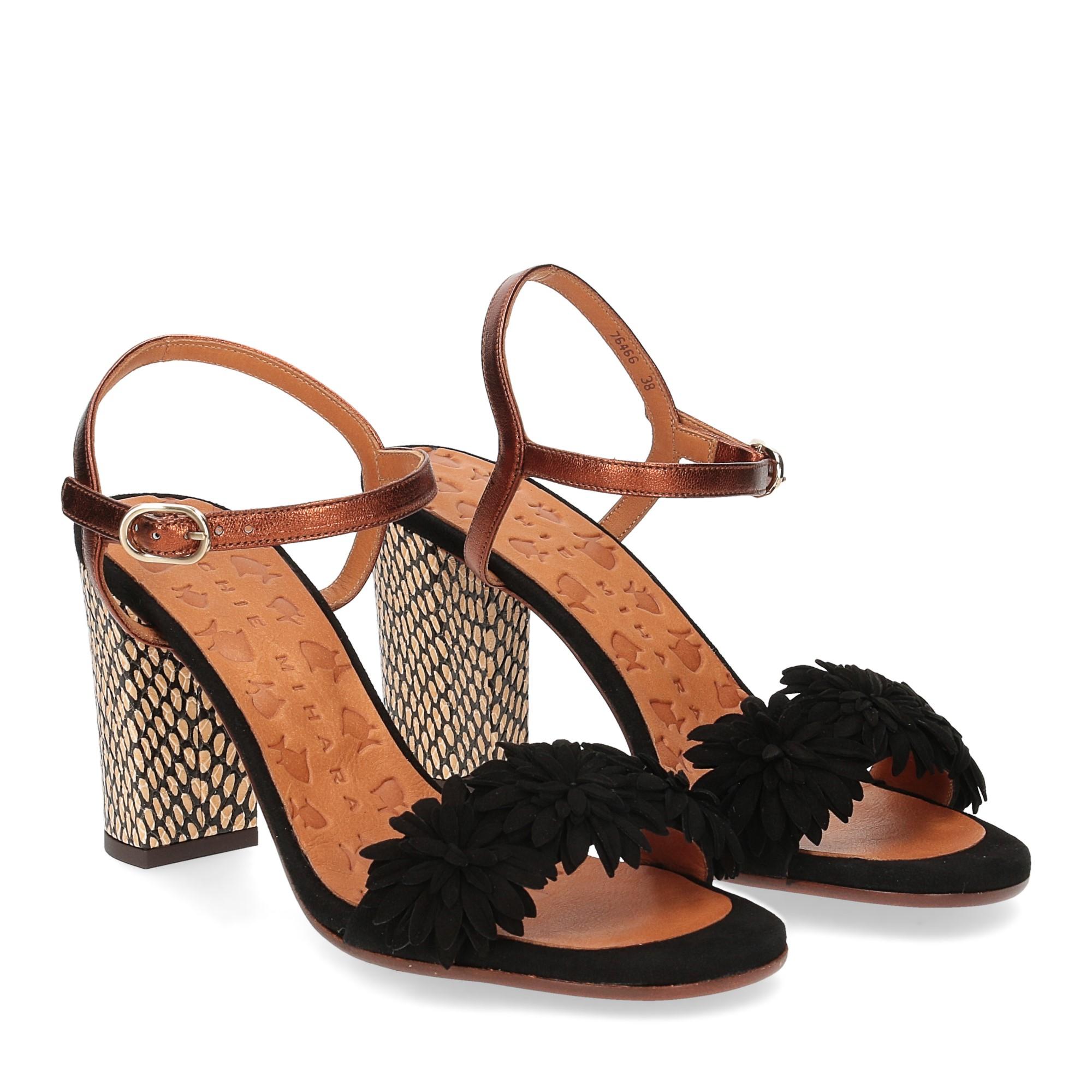Chie Mihara sandalo Balis camoscio nero