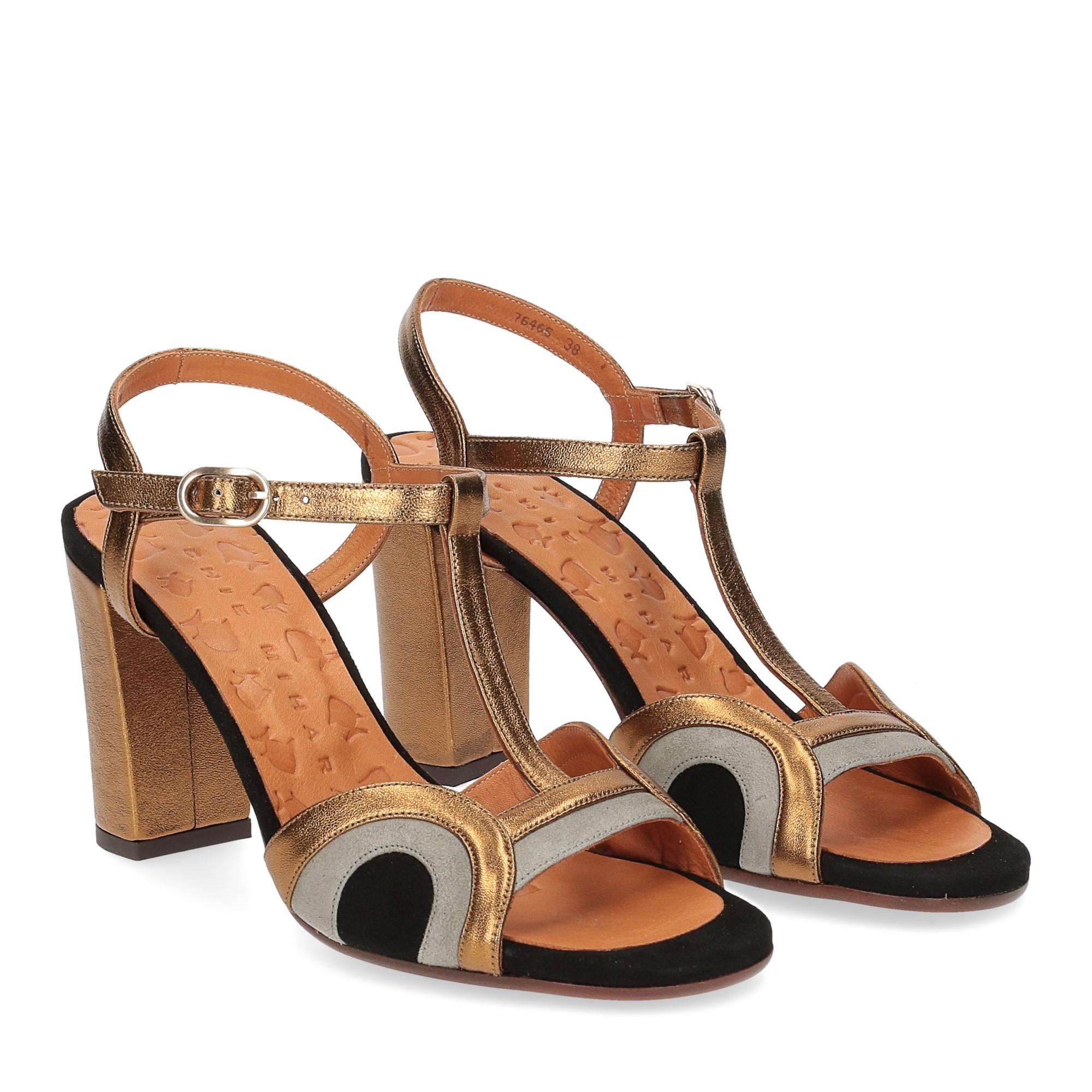 Chie Mihara sandalo Banela pelle bronzo