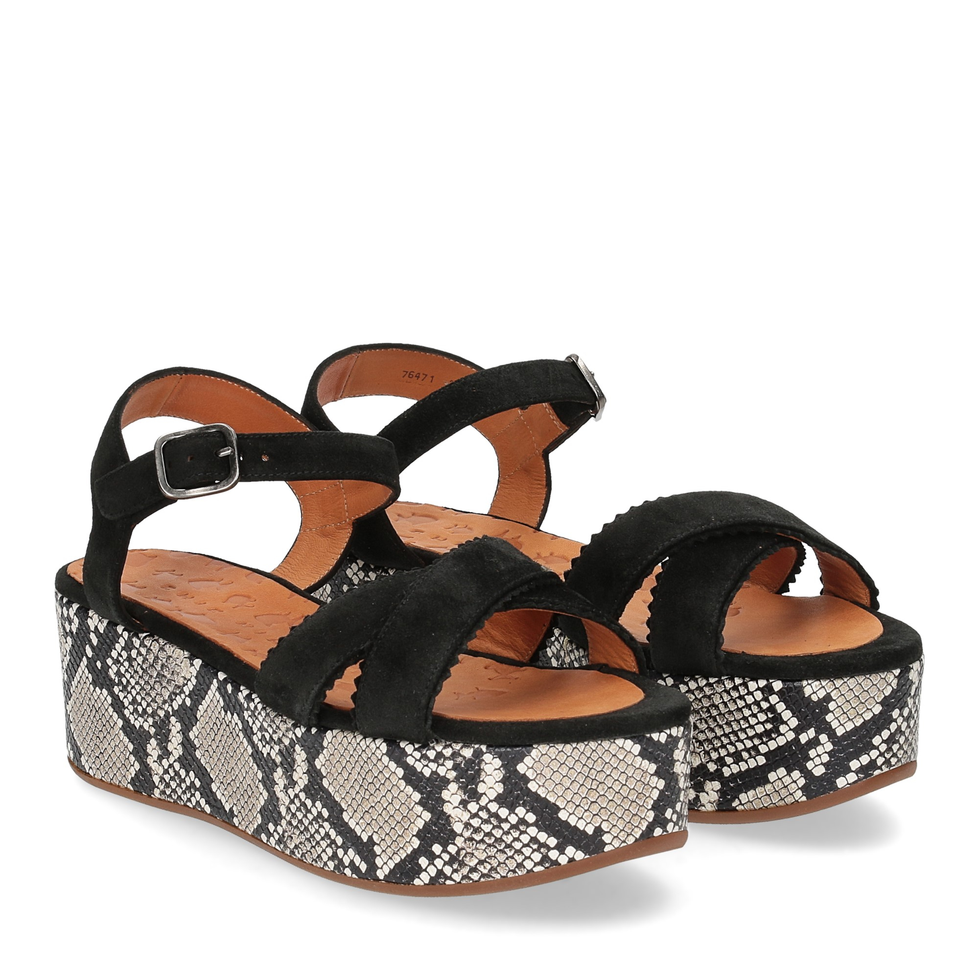 Chie Mihara sandalo Olinda camoscio nero