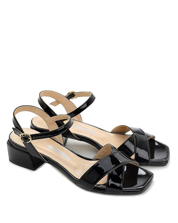 Sandali tacco basso pelle lucida - CHIARINI BOLOGNA