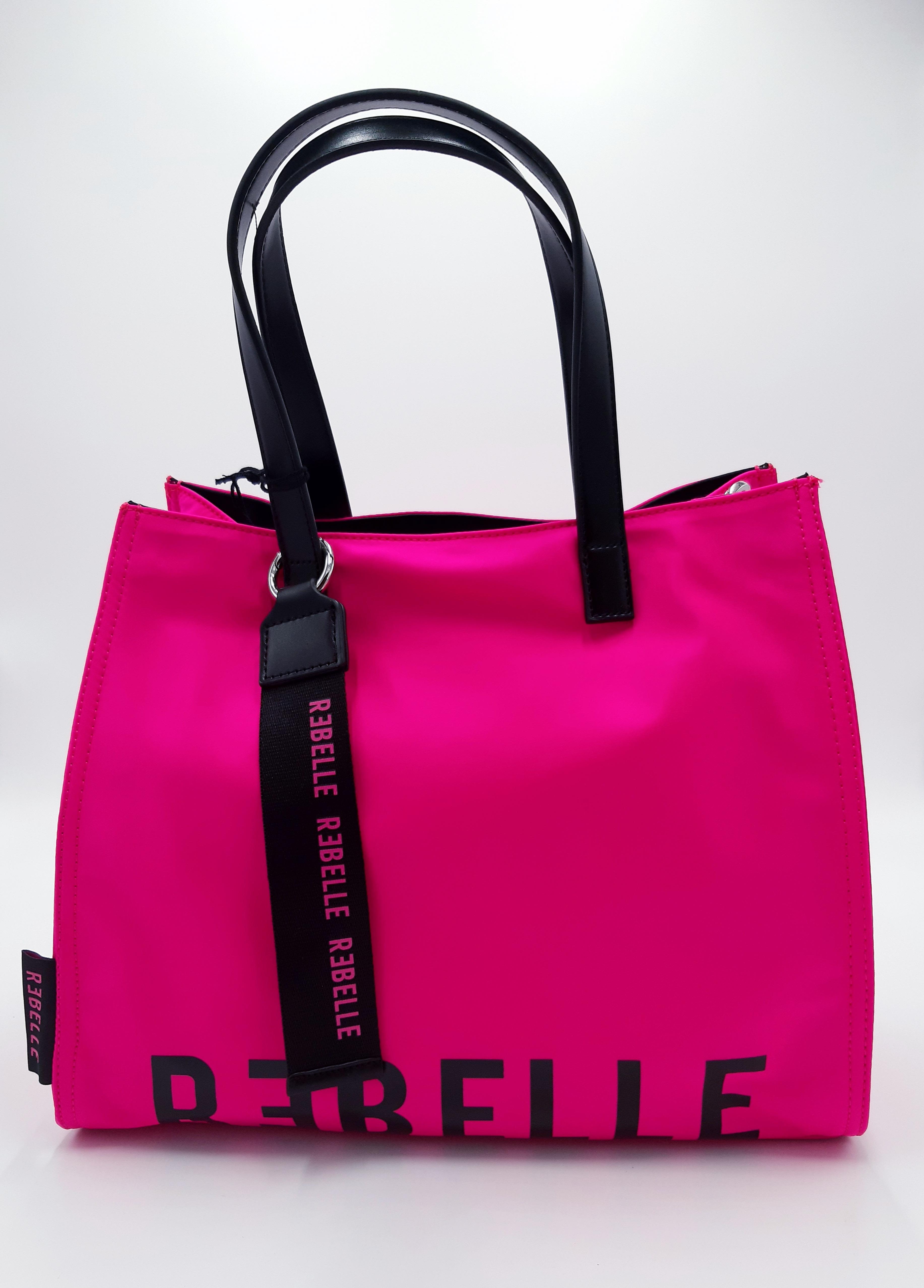 Shopping in tessuto tecnico fuxia Rebelle