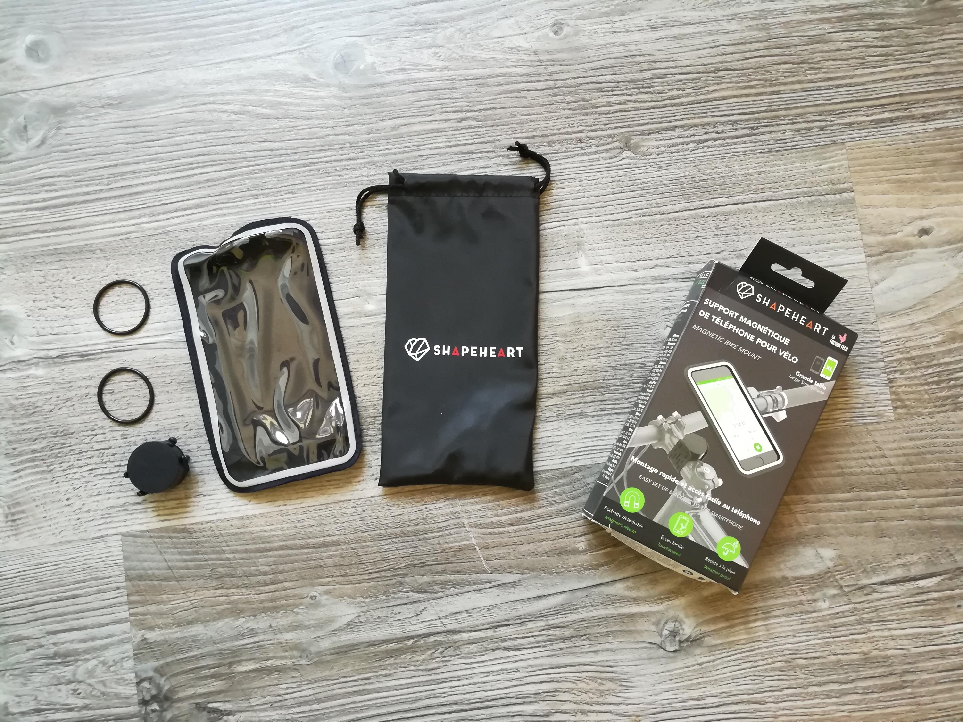 SHAPEHEART Supporto Magnetico per Smartphone Bici Moto