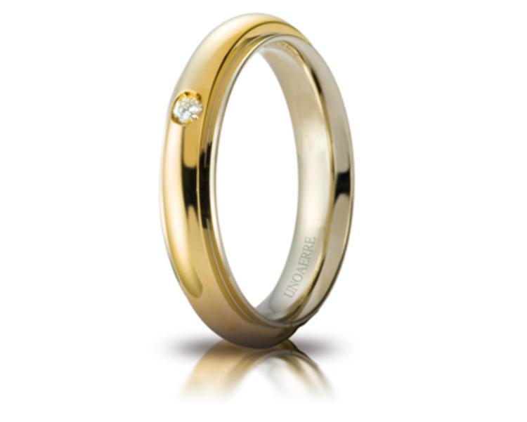 Fede Unoaerre, in oro bicolore BRILLANTI PROMESSE